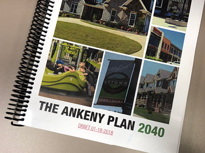 Ankeny Plan 2040 bound book cover