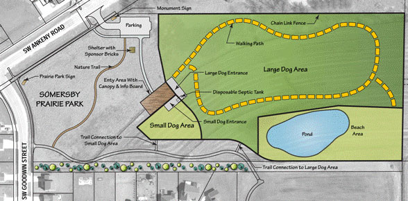 Image of Ankeny Dog Park Site Plan
