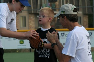 boy with glove boy with glove miracle league