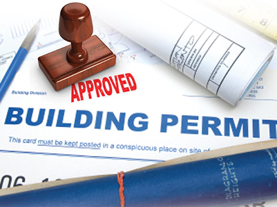 building permit approval stamp