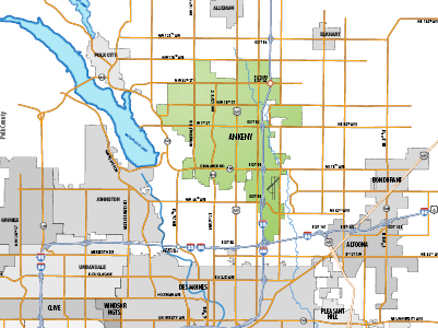 Map Ankeny boundaries