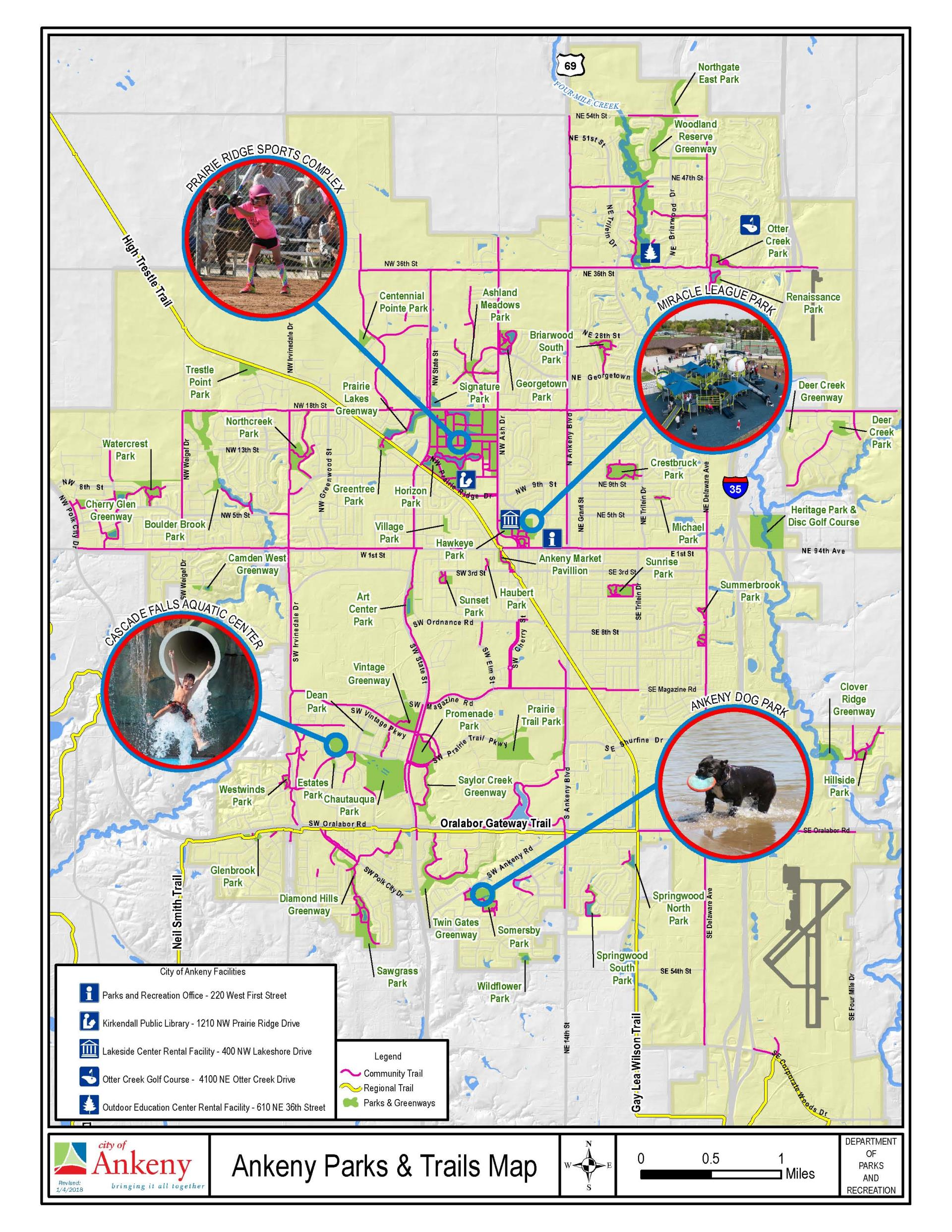 Ankeny Parks andTrails map