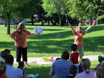 library story time in the park