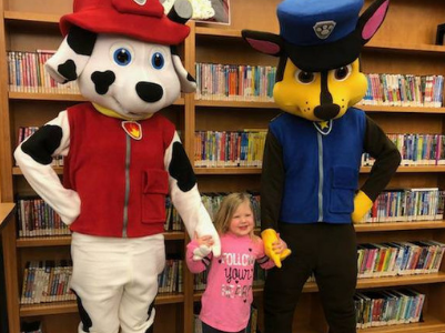 storybook adventures patrol pups special event with young girl