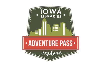 Iowa Libraries Adventure Pass explore logo