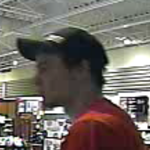 19-003921 suspect white male red shirt, ballcap