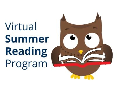 Virtual Summer Reading Program Ozzy the owl reading book