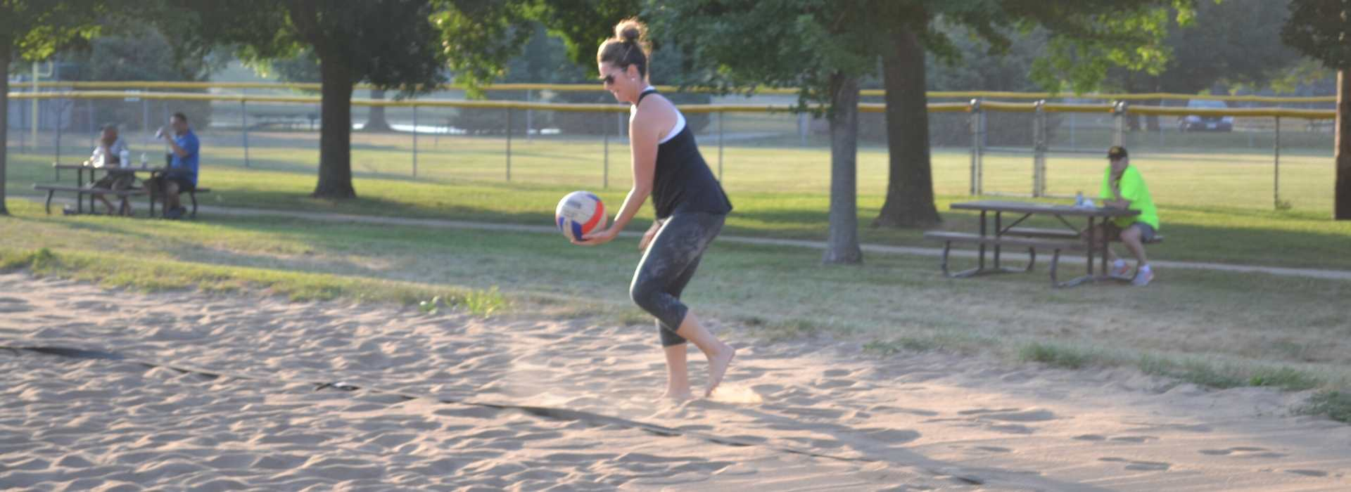 sand volleyball woman serving