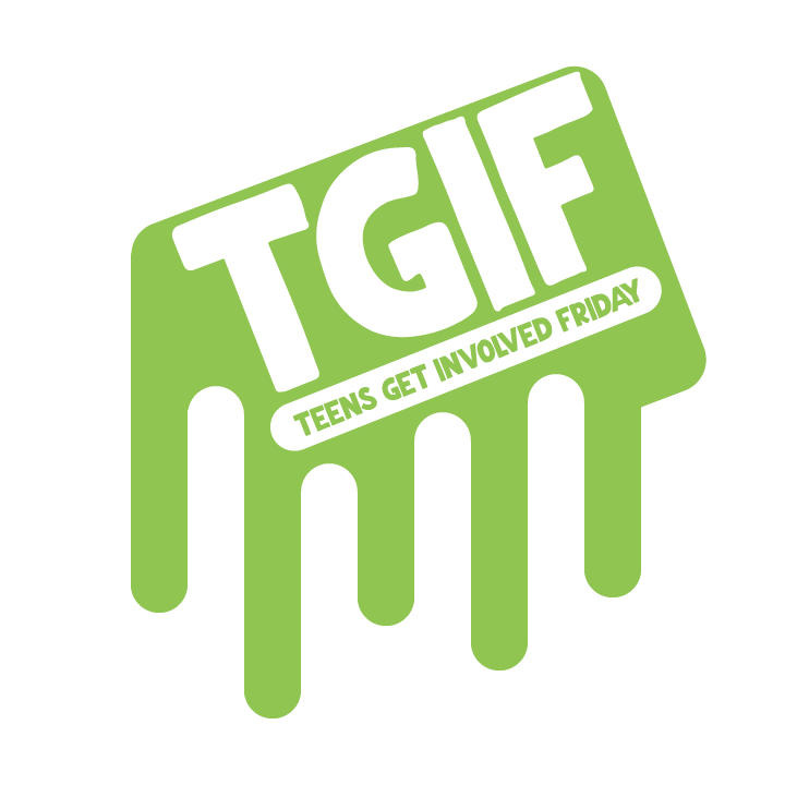 TGIF Logo Ankeny Library Teens Get Involved Friday